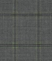 Stretch Windowpane Gray Wool Suit