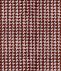 Reda Carmine Red Houndstooth Wool Jacket