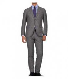 Essential Mid Charcoal Wool Suit