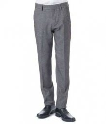 Essential Mid Charcoal Wool Pants