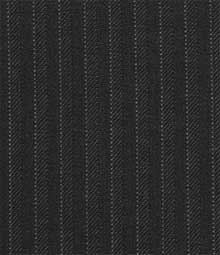 French Black Pinstripe Wool Suit
