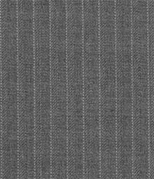 French Mid Charcoal Pinstripe Wool Suit
